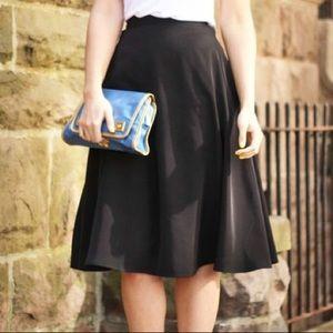 American Apparel - NWOT Black Midi Circle Skirt